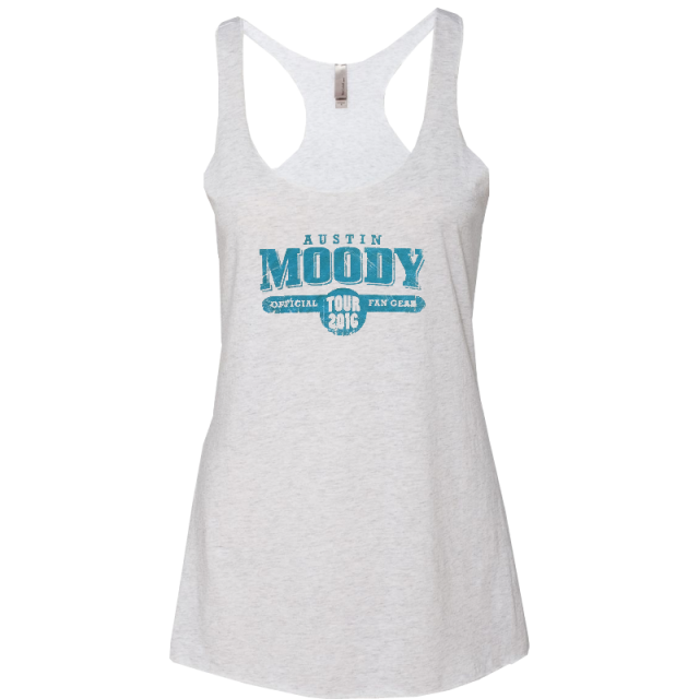 Austin Moody Heather White Racerback Tank